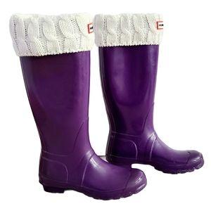 Hunter Original Tall Gloss Rain Boots & Socks